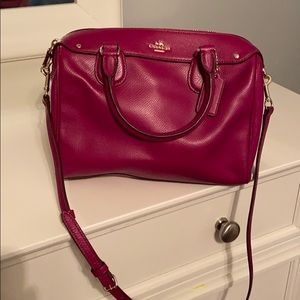 Berry colored Coach purse